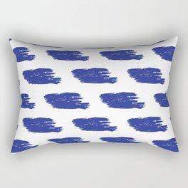 Navy & White Watercolor Stripes Rectangular Pillow