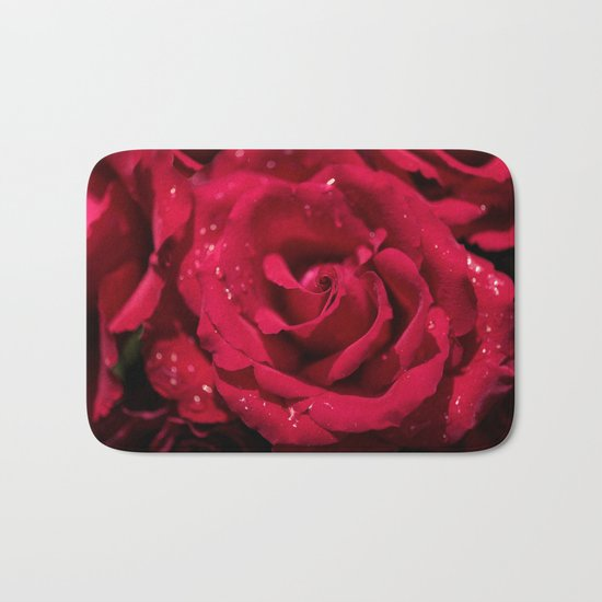 Red roses - Red Rose Photography Bath Mat