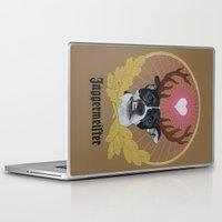 pitbull Laptop & iPad Skins featuring Jaggermeister - pitbull by PaperTigress