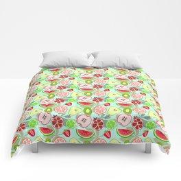 cut fruit Comforters