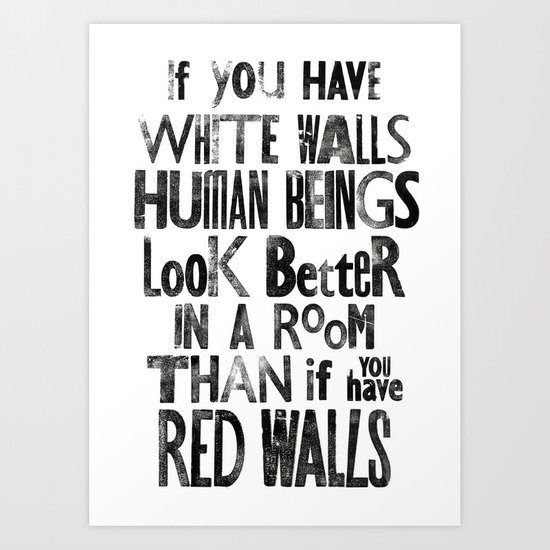 Letterpress Quote #2 Art Print