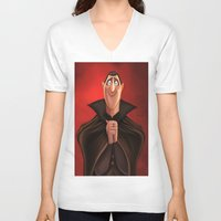 dracula V-neck T-shirts featuring Dracula by Niniel