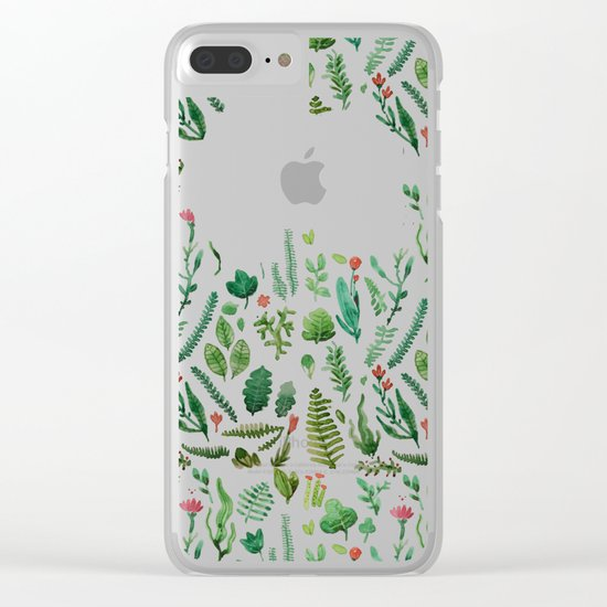 pink garden Clear iPhone Case