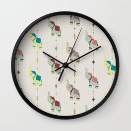 Indian Elephants Wall Clock