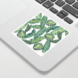 Jungle Leaves, Banana, Monstera II #society6 Sticker