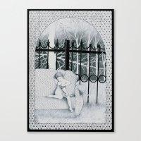 tatoo Canvas Prints featuring Tatoo by Katz Can't Read