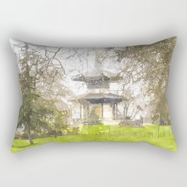 The Pagoda Battersea Park London Art Rectangular Pillow