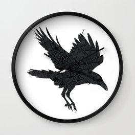 London, as the Raven Flies Wall Clock