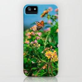 Hawaiian Flowers & Butterfly (2) | Hawaii Tropical Nature Coastal Travel Photography Print iPhone Case