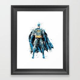 BAT-MAN SUPERHERO Framed Art Print