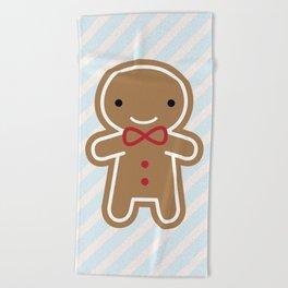 Cookie Cute Gingerbread Man Beach Towel