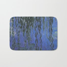 Water Lilies and Weeping Willow Branches by Claude Monet Bath Mat