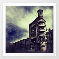 Torre Poble Nou Art Print