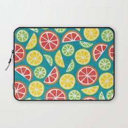 Vitamin C Super Boost - Citric Fruits on Petroleum Laptop Sleeve