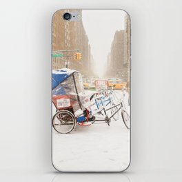 NYC Snow Day on Central Park West iPhone Skin
