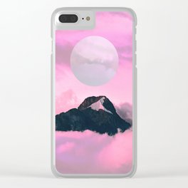 pink skies Clear iPhone Case