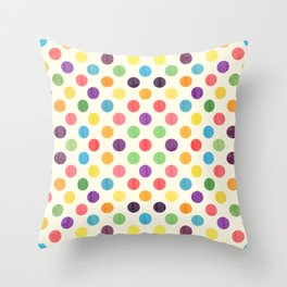 Lovely Dots Pattern II Throw Pillow