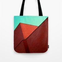 the office Tote Bags featuring BOX OFFICE by DANIEL COULMANN