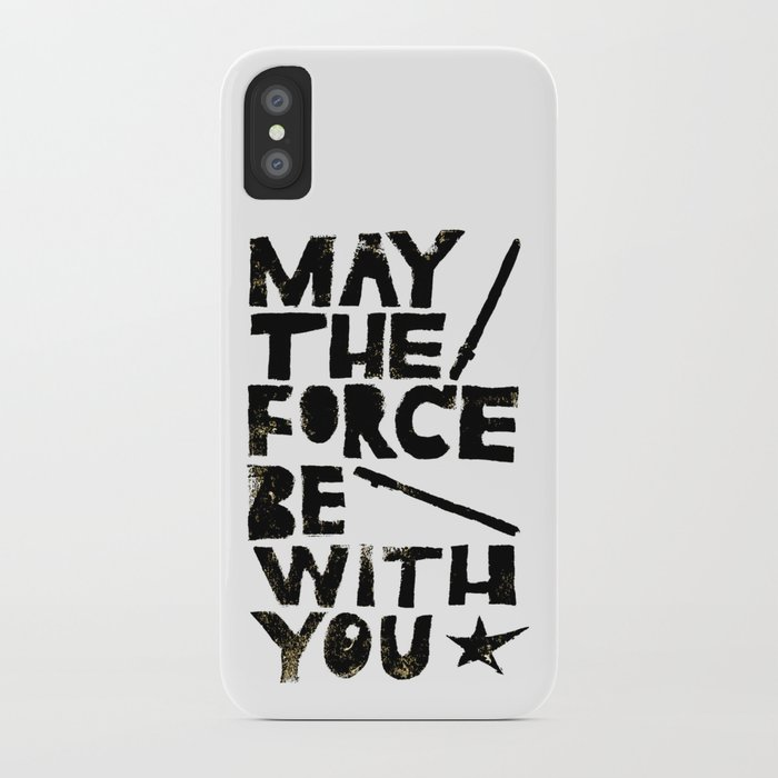 May The Force Be With You Linocut Star Wars Movie Poster Iphone