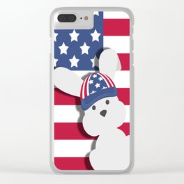 INDEPENDENCE DAY BUNNY Clear iPhone Case