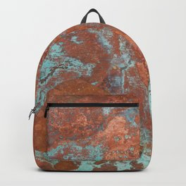 Tarnished Metal Copper Texture - Natural Marbling Industrial Art Backpack