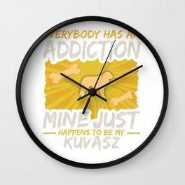 Kuvasz  Funny Dog Addiction Wall Clock