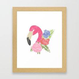Funny Flamingo Summer Sun Sea Lake Vacation Gift Framed Art Print