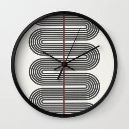 Retro, Mid-Century Line Art Wall Clock