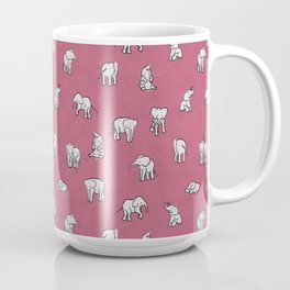 Indian Baby Elephants in Pink Coffee Mug