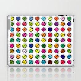 Multi-coloured Pills Pattern square Laptop & iPad Skin