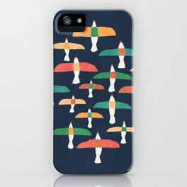 Vintage seagull iPhone Case
