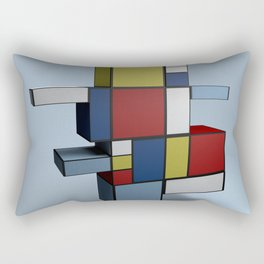 Composition with Red Blue and Yellow Rectangular Pillow