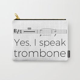 I speak trombone (rests) Carry-All Pouch