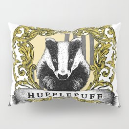 Hufflepuff Color Crest Pillow Sham