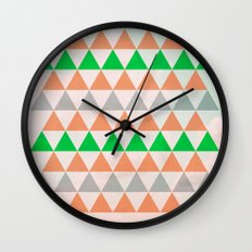 Fly in Pink / Colored Triangles Wall Clock