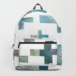 Wonky Swiss Cross in Teal Backpack