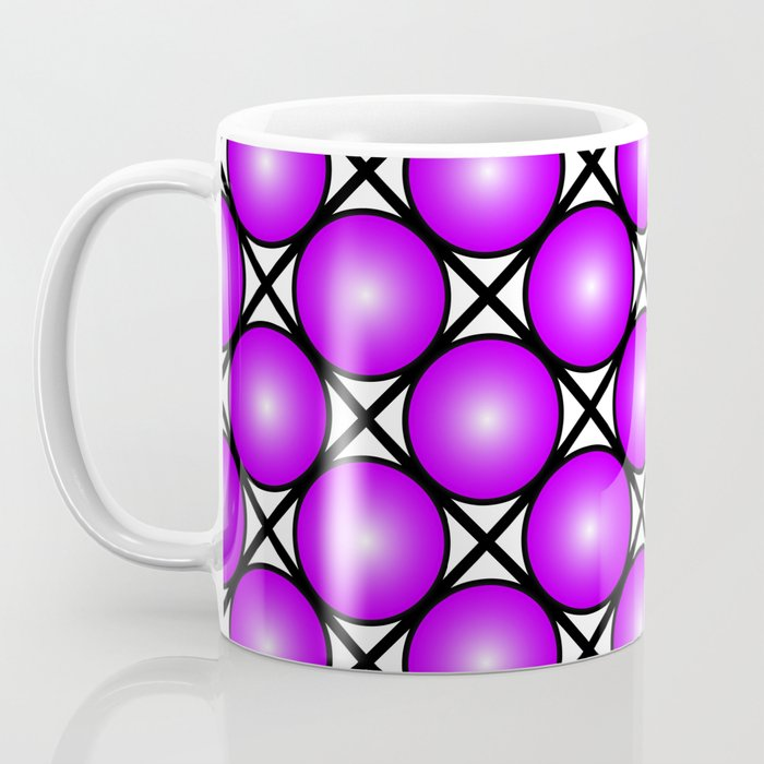 Neon Purple Pattern Coffee Mug