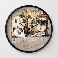 kids Wall Clocks featuring Kids by Andreas Derebucha