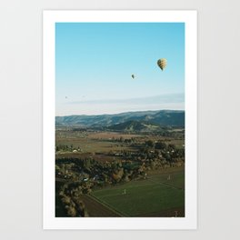 napa valley sunrise by hot air balloon Art Print