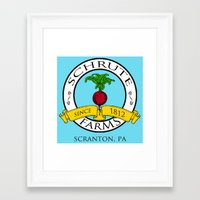 dwight schrute Framed Art Prints featuring Schrute Farms | The Office - Dwight Schrute by Silvio Ledbetter