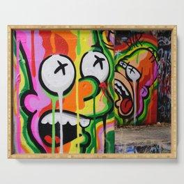 Cool Urban Cartoon Graffiti Art Serving Tray
