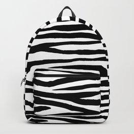 Zebra StripesPattern Black And White Backpack