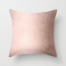 Moon Dust Rose Gold Throw Pillow