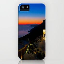 fira sunset-Santorini iPhone Case