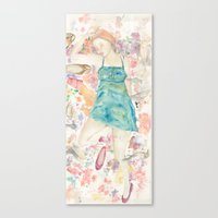 sleeping beauty Canvas Prints featuring Sleeping Beauty by Megan Dawn