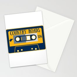 West Virginia Country Roads WV State Map Vintage Music Cassette Tape Stationery Cards