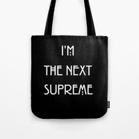 supreme Tote Bags featuring Supreme by Lyre Aloise