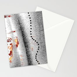 Line of points Stationery Cards