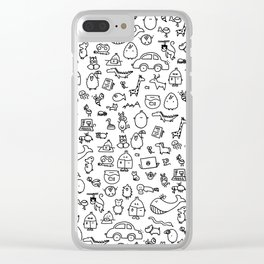 The TourBunny Pattern Clear iPhone Case