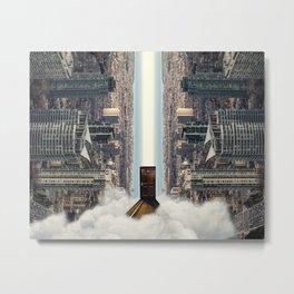 Enter The City - Surrealist Digital Art Metal Print